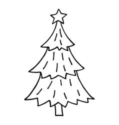 Cute christmas tree vector