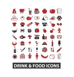Drink  food icons set vector