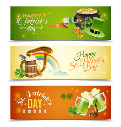 Saint patricks day banners set vector
