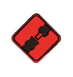 Traffic sign warning security belt vector