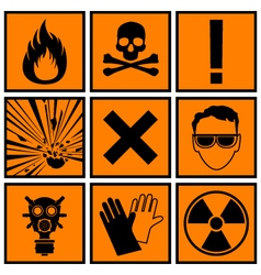 Icons warning of danger vector