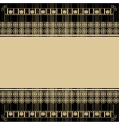 Vintage background with Egyptian design elements vector image