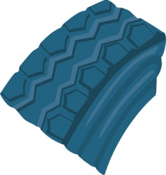 Rubber tires vector