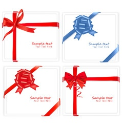 Big set of red gift bows with vector