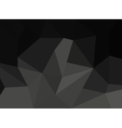 Abstract black faceted paper background vector image