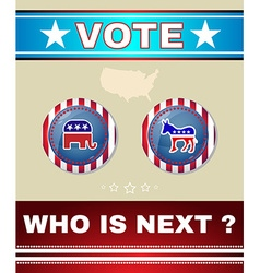 Who is next president banner elephant versus vector