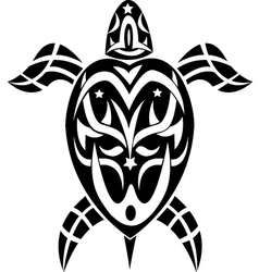 tribal turtle vector image