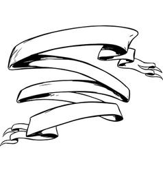 Tattoo ribbon banner vector