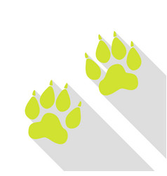 animal tracks sign pear icon with flat style vector image vector image