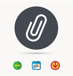Attachment icon paper clip sign vector