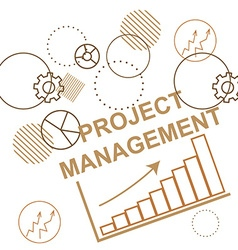 Background to the project management business vector