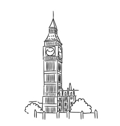 Big Ben in London vector image vector image