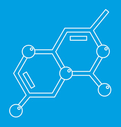 Chemistry icon outline style vector