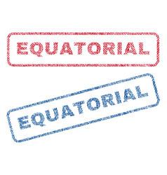 Equatorial textile stamps vector