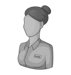 Female avatar icon gray monochrome style vector image vector image