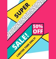 flat design sale website banner template vector image vector image