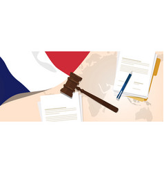 france law constitution legal judgment justice vector image