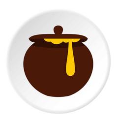 Honey pot icon circle vector