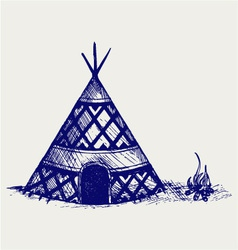 Indian tepee vector image