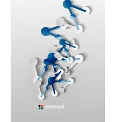Line connection 3d paper design vector