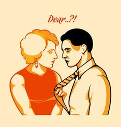 Love quarrel vector