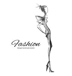 Model fashion vector