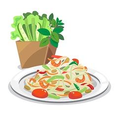 papaya salad1 vector image vector image