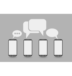 Phone with bubble speech vector image