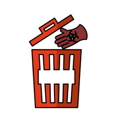 recycle pot garbage icon vector image
