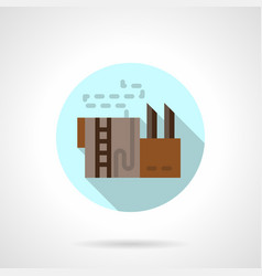 Refinery storage flat round icon vector