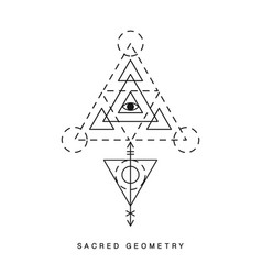 Sacred geometry sign tattoo vector