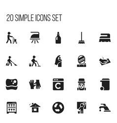 Set of 20 editable cleanup icons includes symbols vector