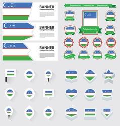 Set uzbekistan vector