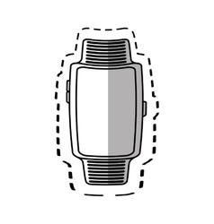 Smart watch wearable technology modern style vector
