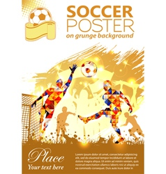 Soccer Poster vector image vector image