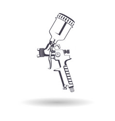 Spray gun monochrome vector