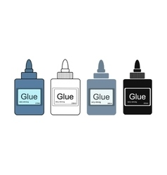 Stationery office glue tube vector