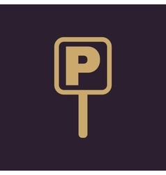The car parking icon Parking symbol Flat vector image