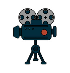 Vintage camera icon image vector