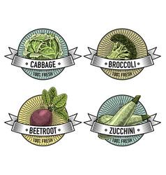Vintage set of labels emblems or logo for vector
