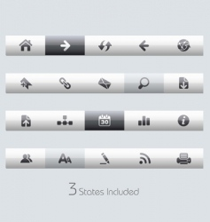 Web navigation bars vector