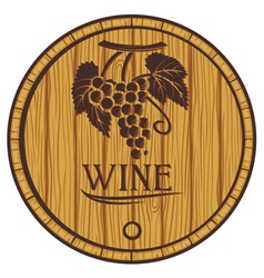 wooden barrel for wine vector image vector image