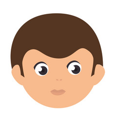 Young man head avatar vector