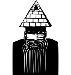 Man with Pyramid Hat vector image