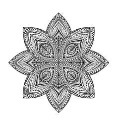Ornamental round lace with decorative pattern vector image
