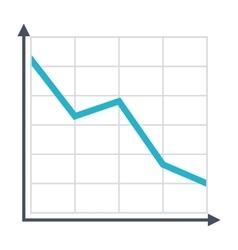 Decline chart icon vector