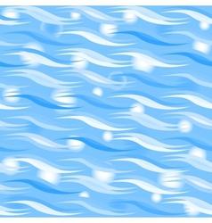 Blue sparkling waves pattern vector image