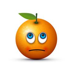 fed up orange vector image