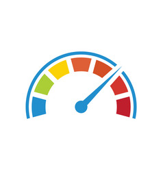 Color tachometer with a pointer vector