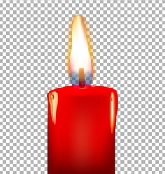 Burning candle on a transparent background vector